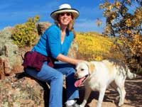 Kathy with her dog