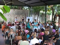 public meeting in Nicaragua